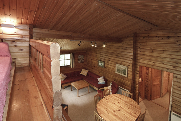 Viipuri log cabin interior